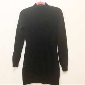 100% Wool BCBG Wool Black Sweater Dress Small